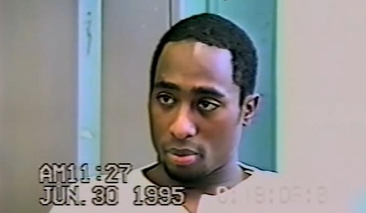 Tupac durante un interrogatorio in carcere