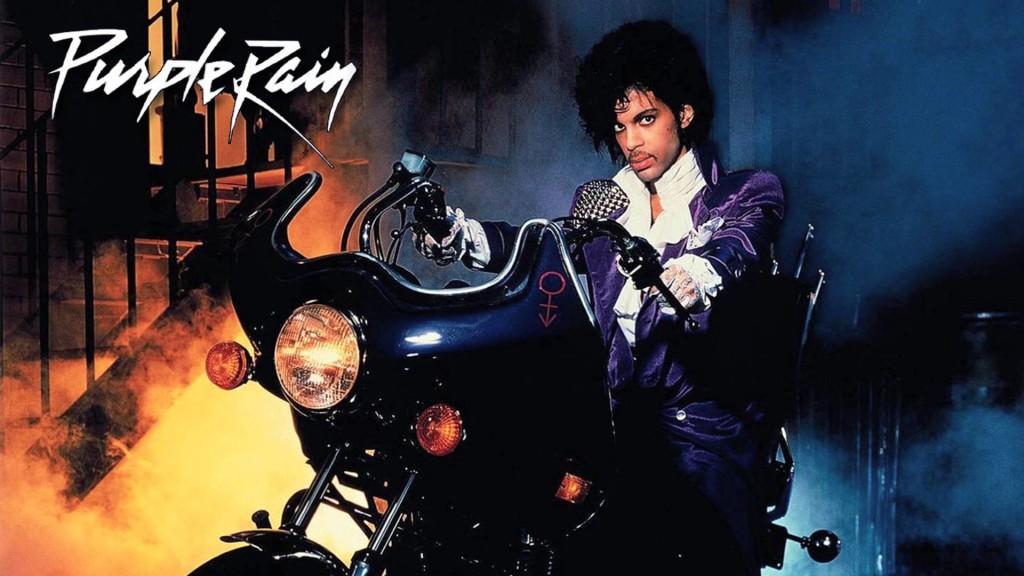 """Prince sulla copertina di """"Purple Rain"""" (1984)."""